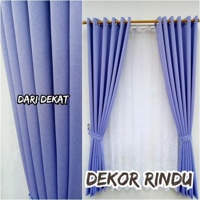 Jual Gorden Minimalis Jendela Dan Pintu Rumah Warna Ungu Muda Kab Bandung Decor Rindu Tokopedia