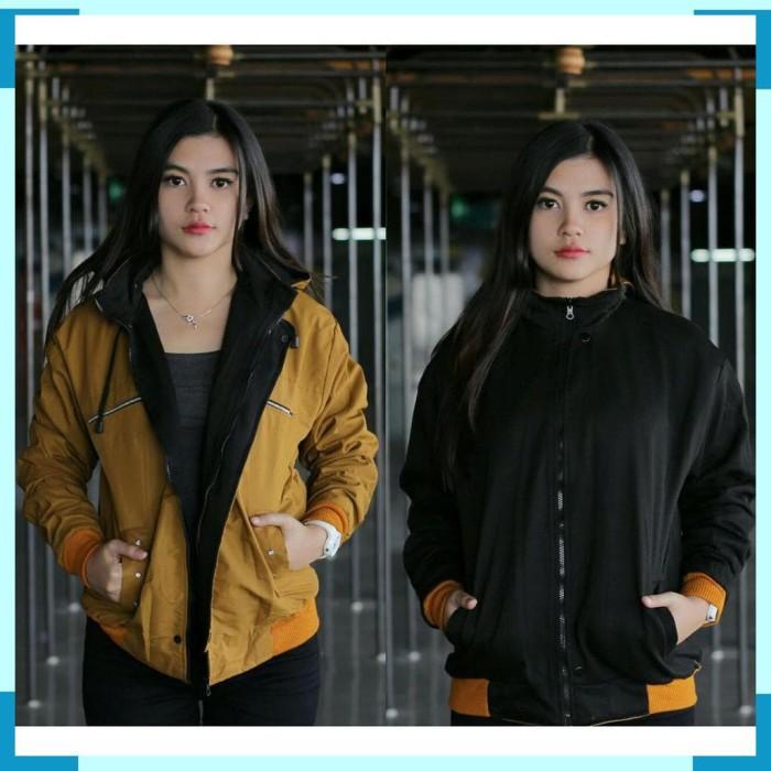 Jual Jaket Wanita - jaket Bolak balik Wanita - Fleece Mix Despo - BB ... 7763bcdd00