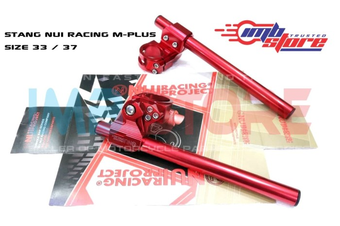 Stang Jepit Clip On Nui Racing Type M-Plus Size 37mm - Merah