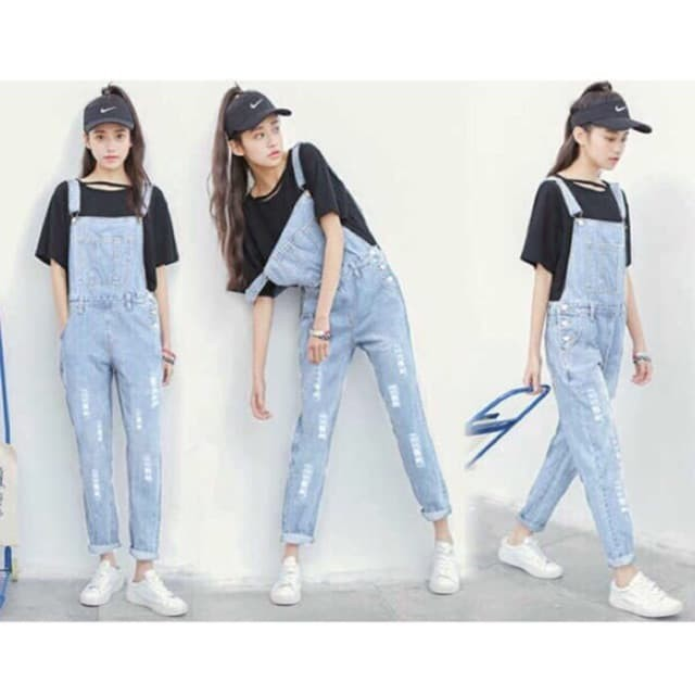 Celana Jeans Wanita Furlas ripped overall