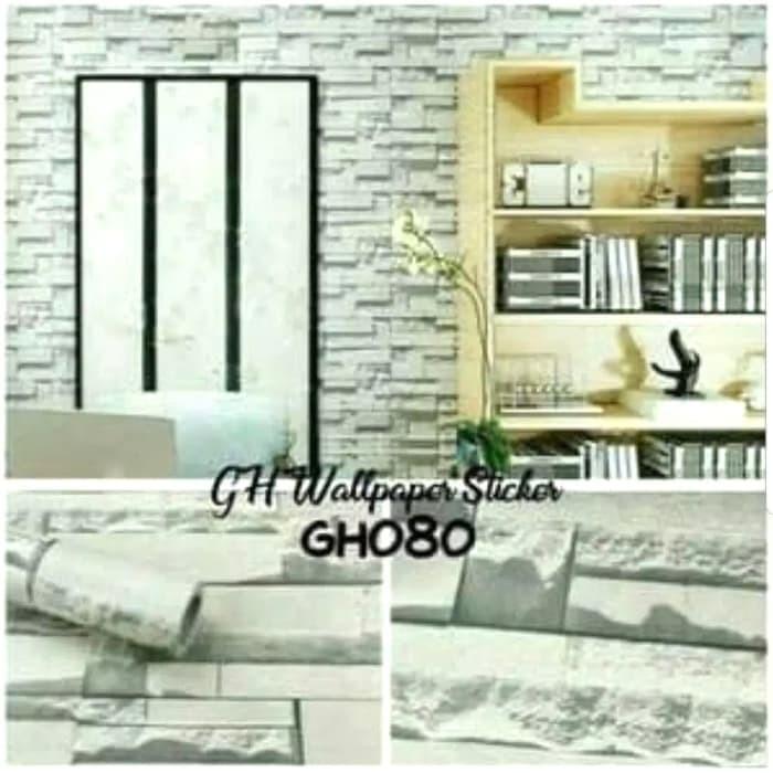 jual [motif bata putih gh080] wallpaper sticker dinding tembok kamar