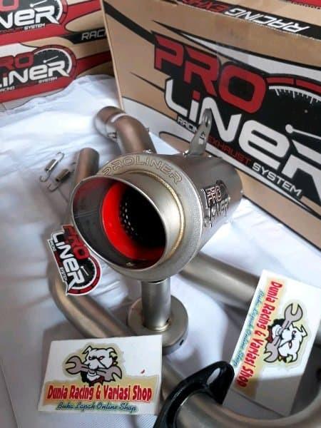 Knalpot PRO Liner Vixion new NVL NVA TR 1 R titan