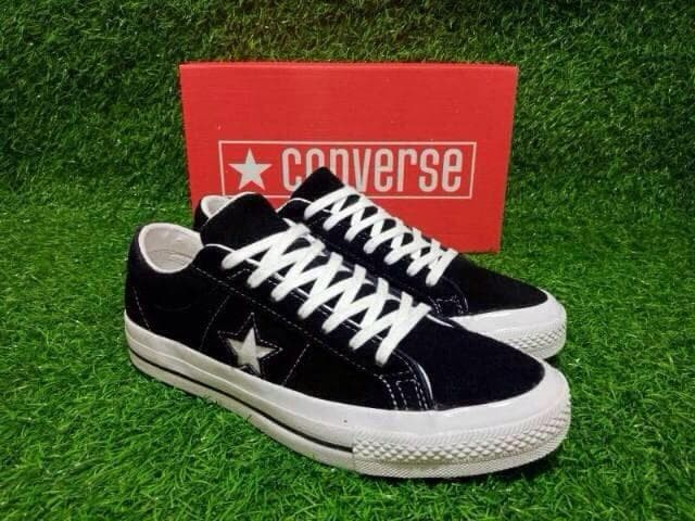 Jual Sepatu Converse One Star Black Suede PREMIUM QUALITY MADE IN VIETNAM Hitam, 41 Kab. Tangerang FU.DailyKets   Tokopedia