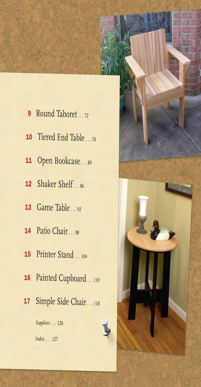 Woodworking projects 17 quality furniture ebook