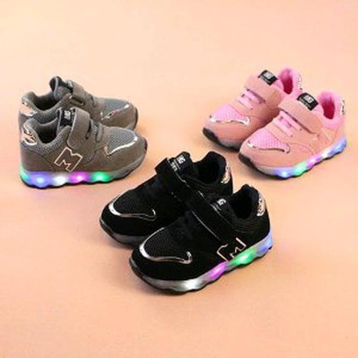 Jual Murah Sepatu Anak Laki Laki Dan Perempuan Led Untuk Usia 1 7