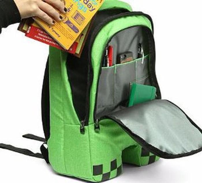 "Minecraft Creeper Kids Mini Block Backpack 12/"" Green Size OS NEW"