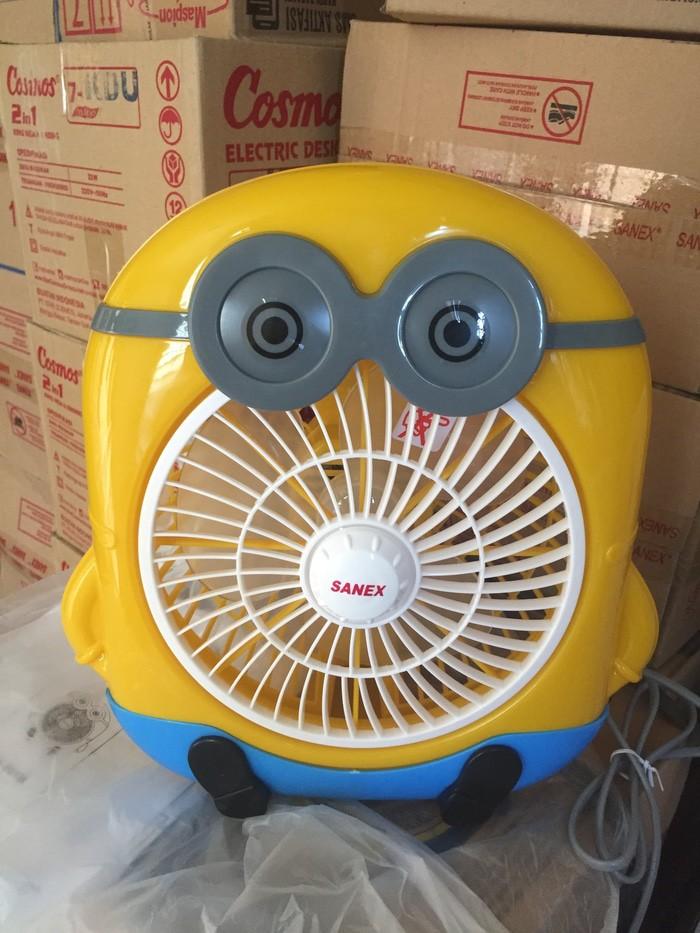 harga Kipas angin listrik kotak karakter minion merk sanex 8  kk-801m Tokopedia.com