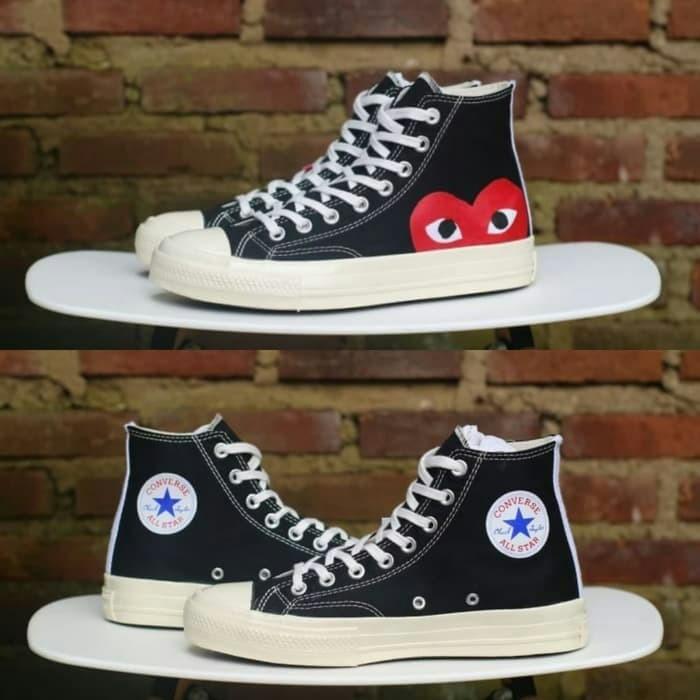19f1813191eca0 Jual Sepatu COMME des GARCONS PLAY x Converse All Star Chuck Taylor ...