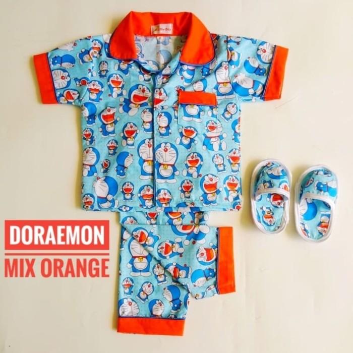 Jual Setelan Piyama Anak + Sandal Motif Doraemon Mix Orange (L dan XL) - 4-5 tahun - Kab. Grobogan - lubikids | Tokopedia