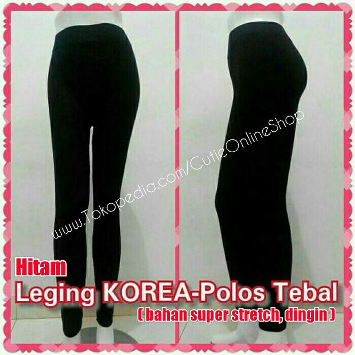Jual Celana Legging Celana Leging Korea Polos Hitam Bahan Tebal Jakarta Barat Rizal Barokahh Tokopedia