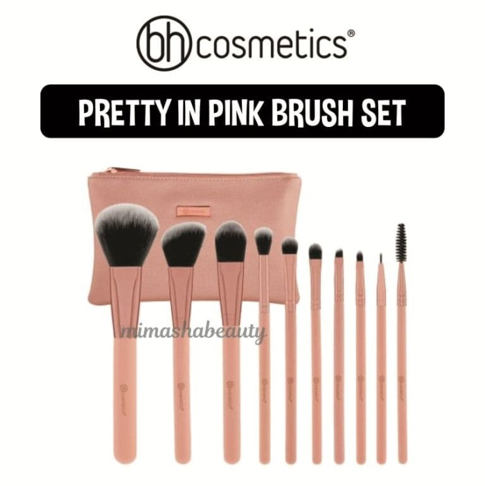 fbca44260fa3d Jual BH Cosmetics Pretty in Pink - 10 Piece Brush Set with Cosmetic ...