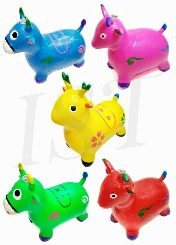 jual mainan anak kuda rusa sapi animal jumping karet tebal musik rh tokopedia com
