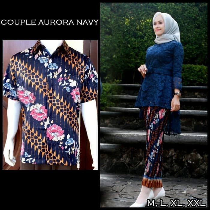 Jual Couple Kebaya Brokat Aurora 005 Navy Dki Jakarta Tokoelegan Tokopedia