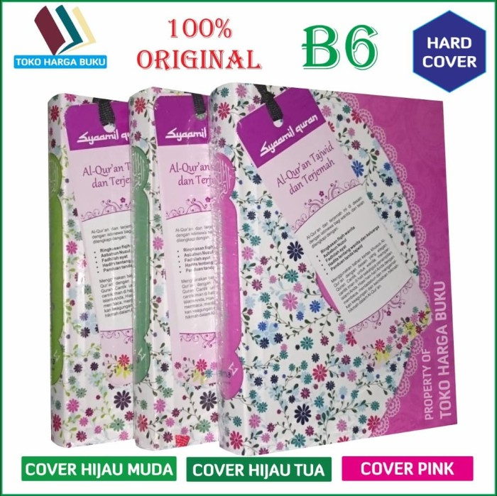Mushaf Al Quran Yasmina Tajwid For Women B6 ORI Hard Cover
