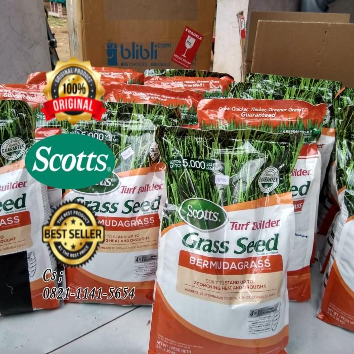 biji rumput Bermuda grass seed Scott builder pusat benih rumput