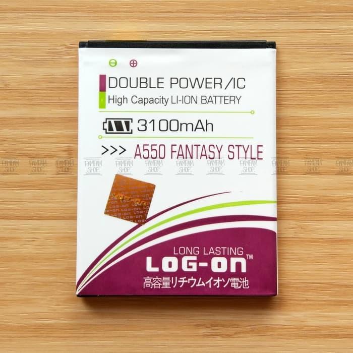 Baterai Mito Fantasy Style A550 BA-00119 BA00119 Double Power Batre