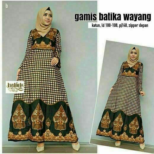 Jual Gamis Batik Wanita Baju Batik Muslim Modern - Batik zamzam ... 04f0e916c2