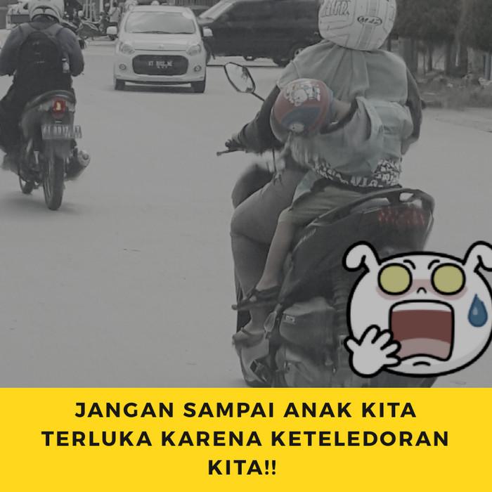 Jual Zatra Sabuk Bonceng Motor + Penutup Kepala - Abu Abu - wahanaprimasmd | Tokopedia