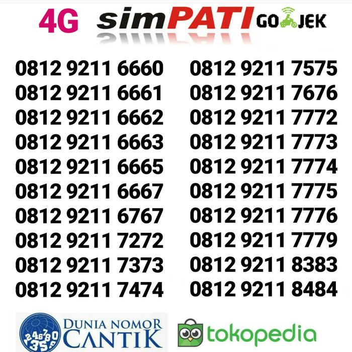 Nomor Cantik Simpati Kartu Perdana Telkomsel 4G