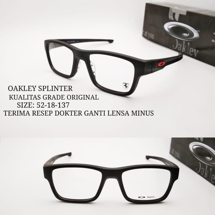 Jual kacamata Okley Splinter frame sporty grade ori paket lensa min ... f84e86b8fe