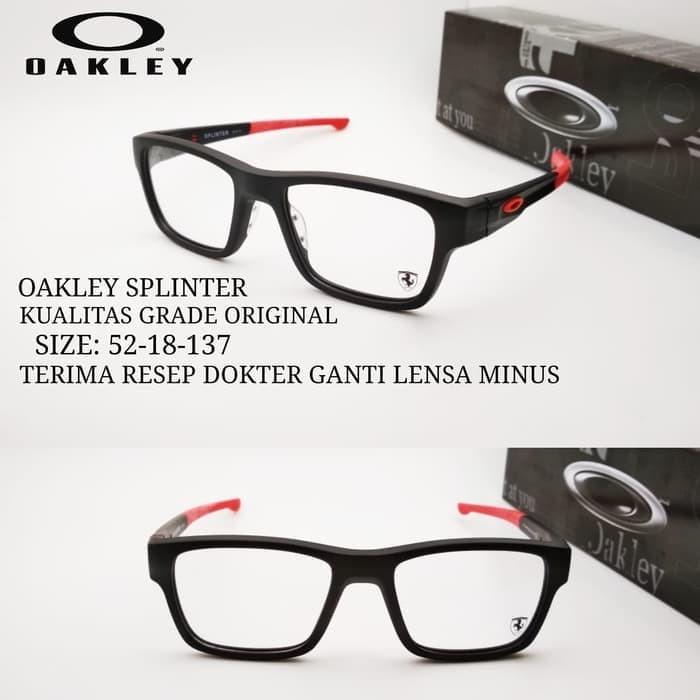 Jual kacamata Okley Splinter frame sporty grade ori paket lensa min ... 6636ecc865