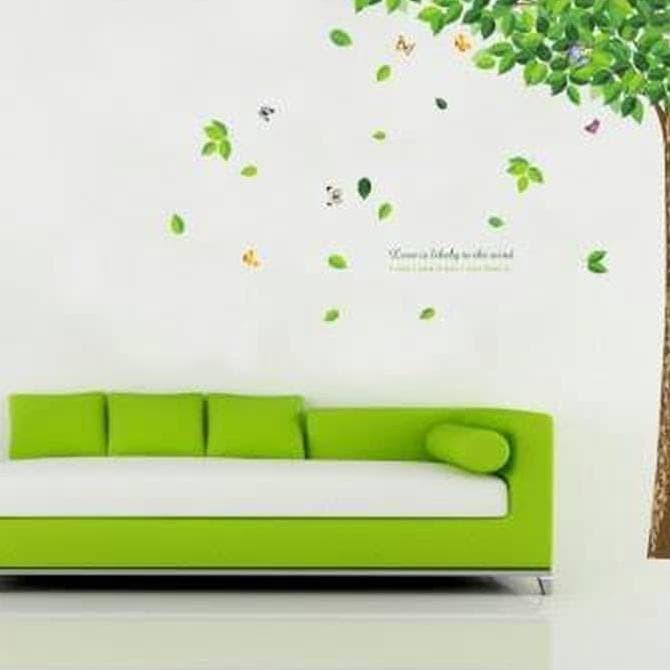 jual eksklusif wall sticker 60x90/wall stiker transparan- ay886 big