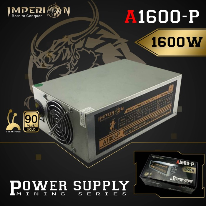 Jual Power Supply / PSU Imperion A1600-P 1600W Mining