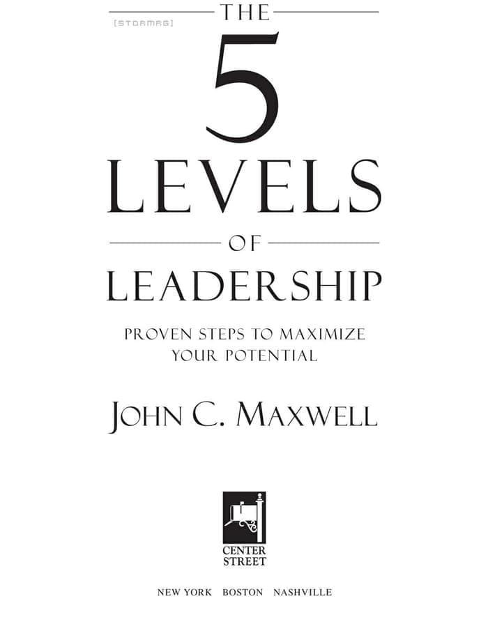 5 Levels Of Leadership Ebook