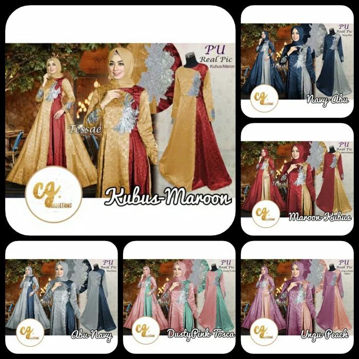 bb010ab5 Jual Gaun Tessa Tessae Jacquard Glitter Gamis Baju Pesta Muslimah ...