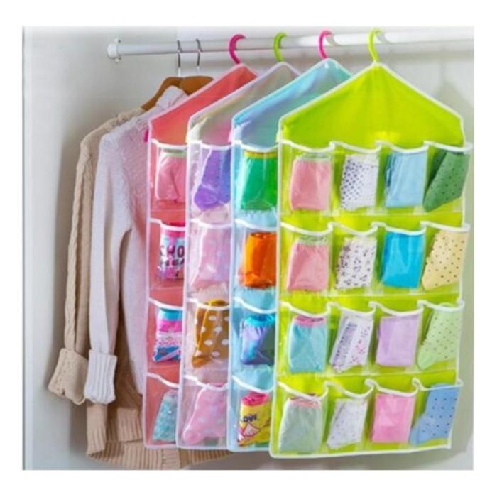 POUCH GANTUNG /Korean Underwear Pouch banyak sekat/GANTUNGAN SERBAGUN - GREEN