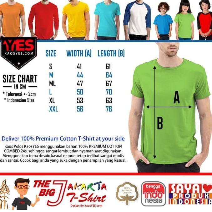KaosYES Kaos Polos T-Shirt O-NECK LENGAN PENDEK - Biru Tua, S Murah