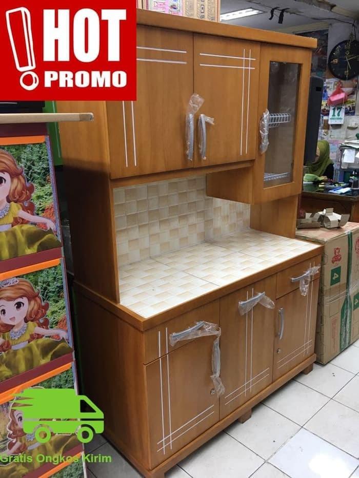 Jual Promo Lemari Dapur Lemari Sayur Rak Piring Kayu Minimalis 3 Pintu Kota Medan Bastenkshoop212 Tokopedia