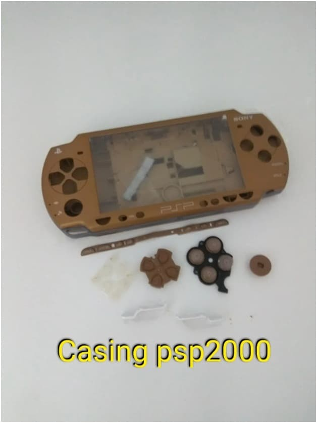 Foto Produk Casing Kesing Cesing Warna PSP Lengkap Komplit Full Set Case PSP 2000 dari exxengame
