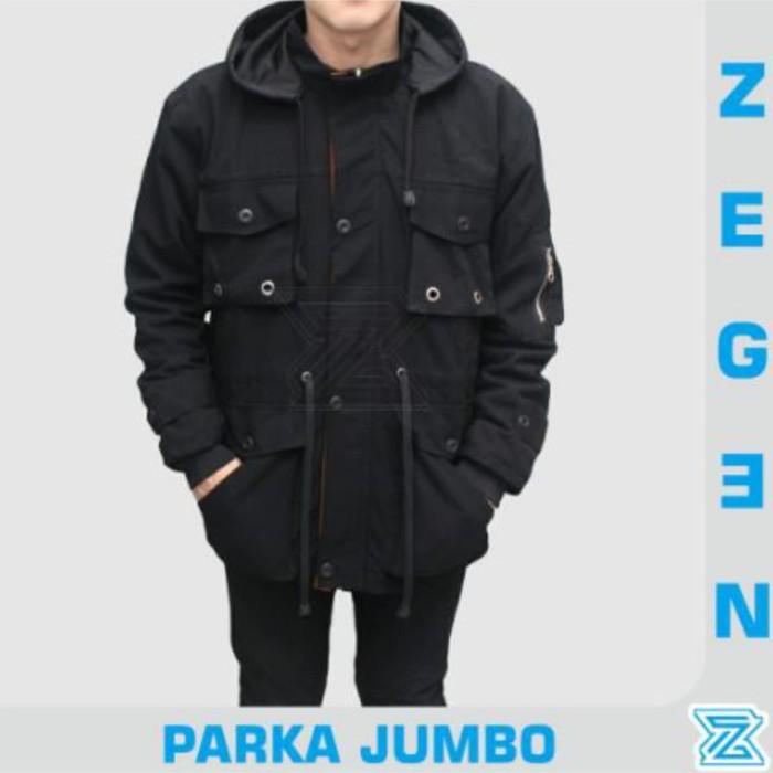 Jaket Parka Jumbo Big Size Premium BGSR - XL XXL / Parka Jumbo Pria - Navy, XXL
