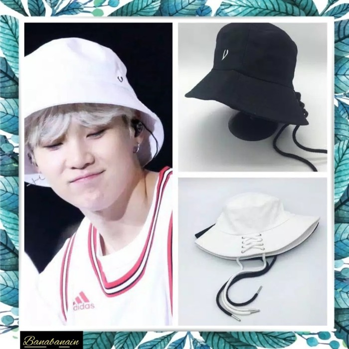 635401c70a7 Jual Topi Bucket hat Shoelace Bangtan Boys Korea Hip Hop Kpop BTS ...
