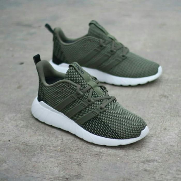 Jual Adidas Questar Flow Dark Green