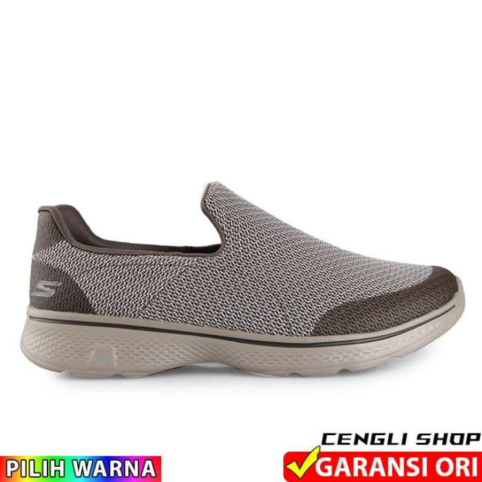 dd9f45865d Review Sepatu SKECHERS Go Walk 4 Men Original Slip On Pria Branded ...