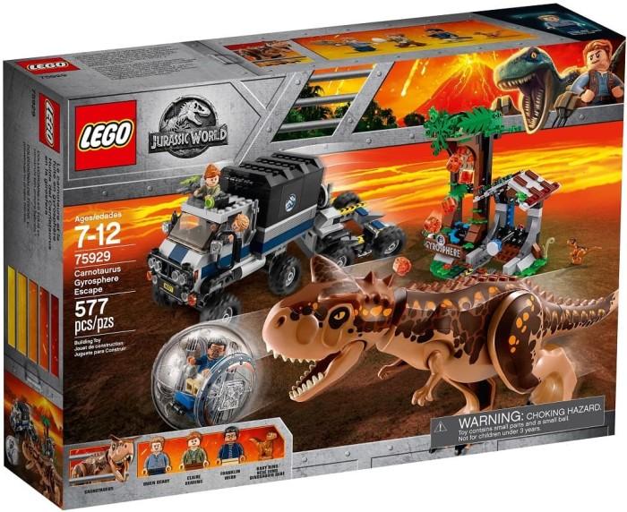LEGO Jurassic World Carnotaurus Gyrosphere Escape 2018 75929