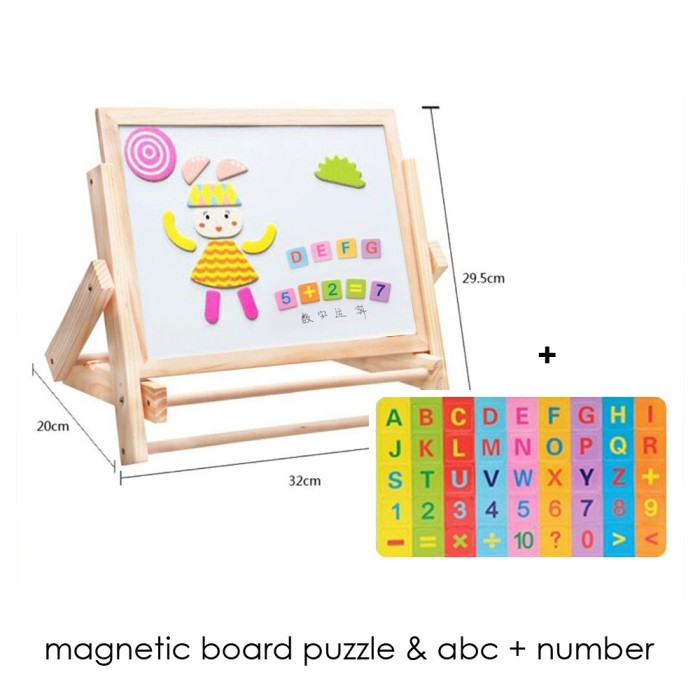 Edufuntoys MAGNET BOARD PUZZLE ABC NUMBER magnetic board papan tulis