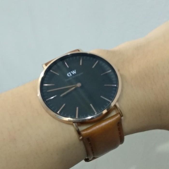 jam tangan Daniel Wellington Classic Black Durham 40mm ORIGINAL second