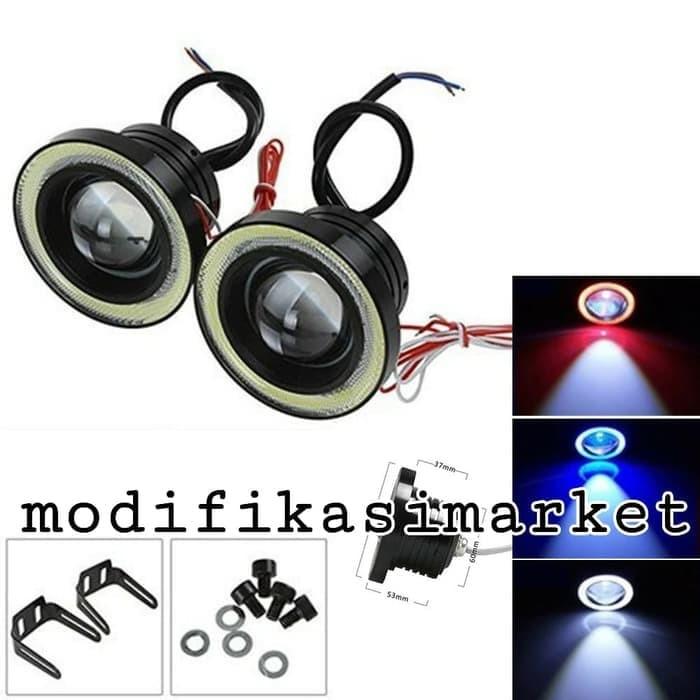 harga Lampu projector foglamp angel eye 89 mm putih impor quality Tokopedia.com