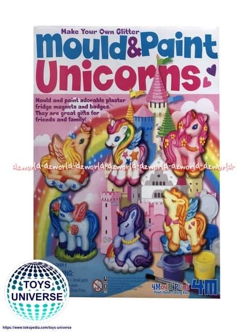 Jual 4m Mould Paint Unicorn Mainan Menghias Mewarnai Kuda Poni