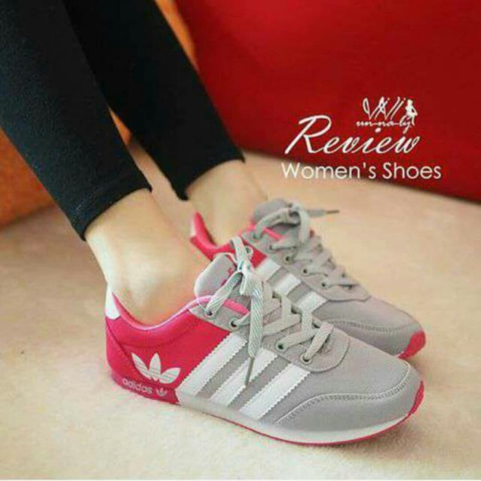 Sepatu Kets Spon Adidas Rep Abu / SEPATU OLAHRAGA / SNEAKERS SPORT - Abu-abu Muda, 38