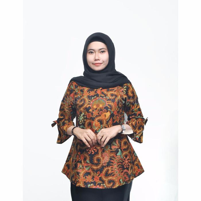 Jual Fashion Batik Cewek Atasan Batik Lengan Lonceng Motif Ikan