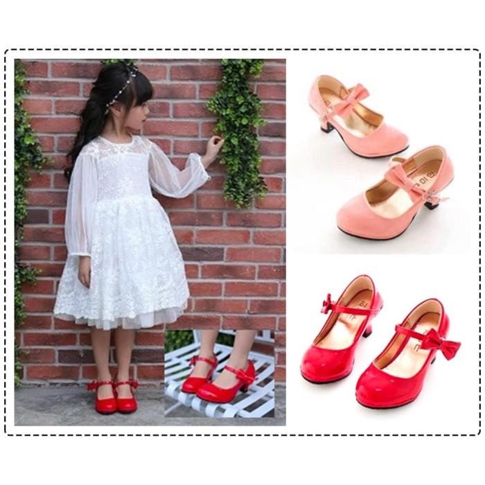 ... harga Sepatu pesta high heels anak  sepatu sandal hak tinggi anak  perempuan Tokopedia.com 5a8a2645e1