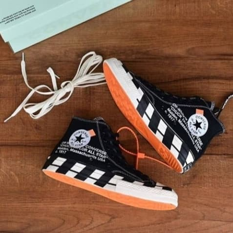 a3a42d6c333f Jual Sepatu Converse All Star 70s High Egret X Off White Black ...