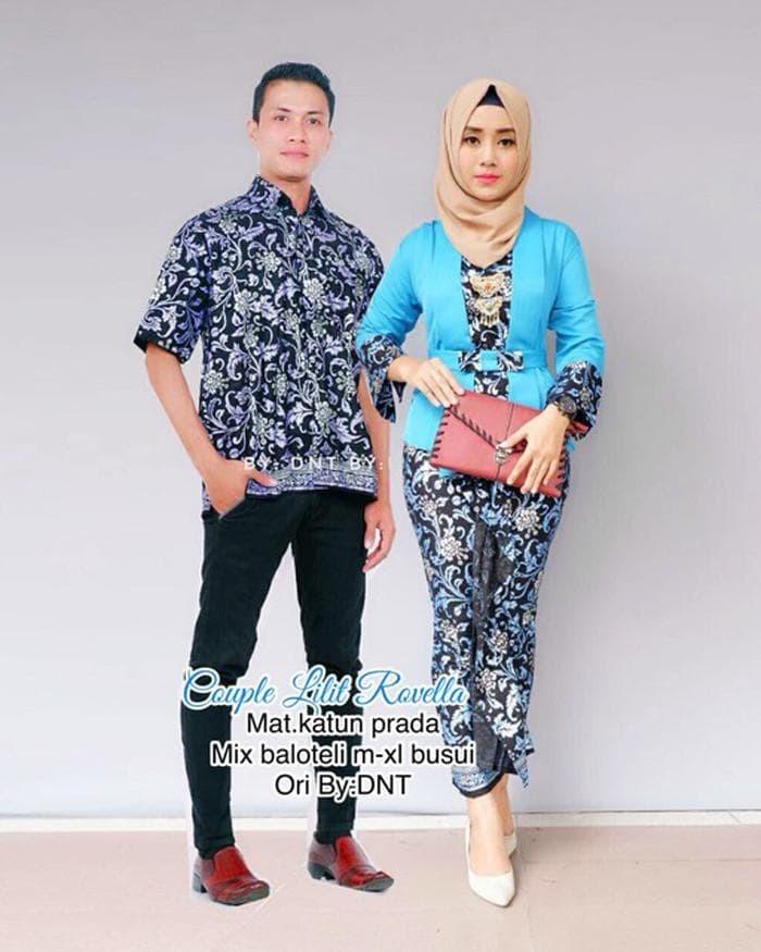 Limited Batik Couple lilit rovella kebaya modern setelan batik