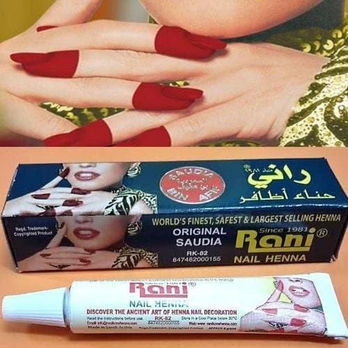 Jual Pacar Kuku Rani Nail Henna Asli Arab Galeri Humaira Tokopedia