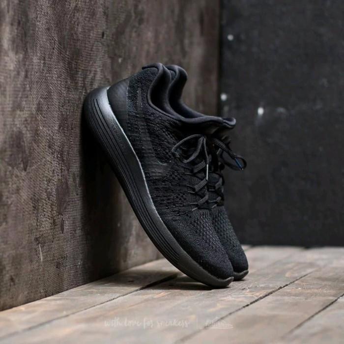 fc00397998824 Jual NIKE LUNAREPIC FLYKNIT 2 TRIPLE BLACK New Sneaker Casual Sporty ...