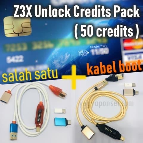 Jual Z3x Unlock Credits Pack 50 Credits Plus Kabel Boot Original -  yogyaponsel | Tokopedia